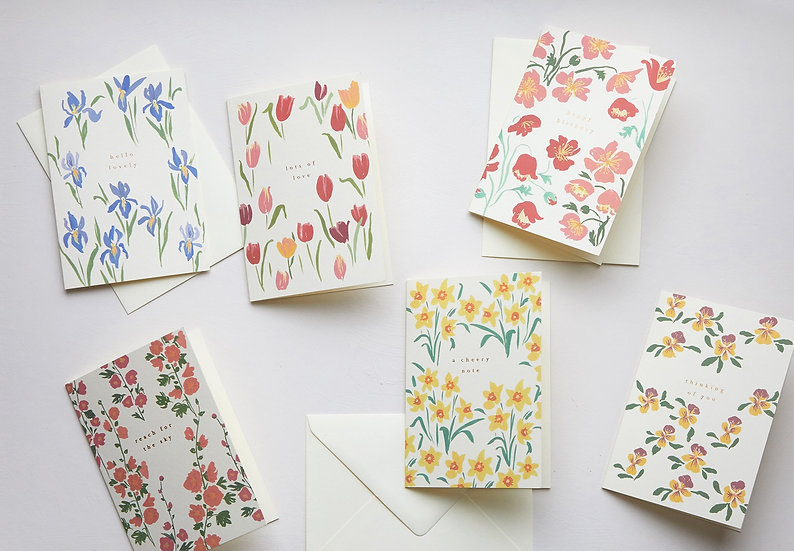 The Language of Flowers, set of cards