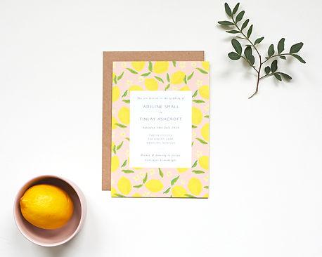 Italian lemmon wedding invitations