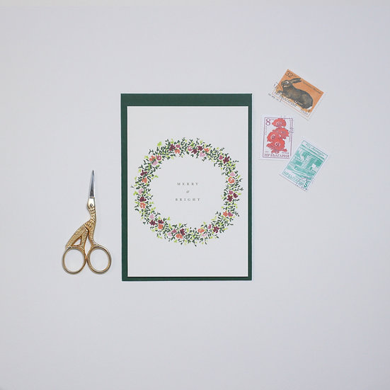 Wreath, Christmas card
