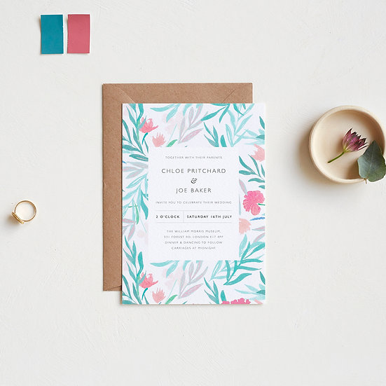 Jungle Flowers Invitations