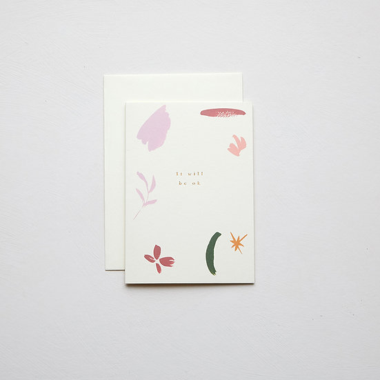 'It will be ok', abstract card