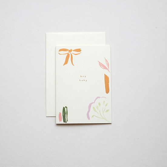'Hey baby', abstract card