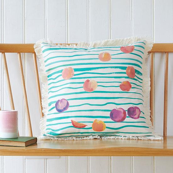 Peaches and Plums cushion