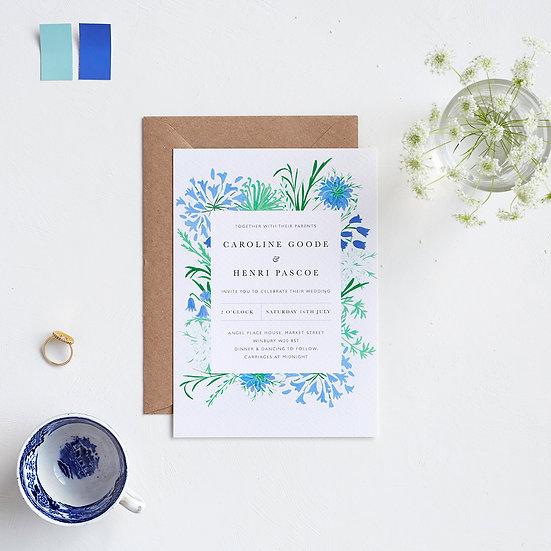 Coastal Flowers Invitations