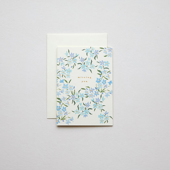 'Missing you', Forget-me-not card