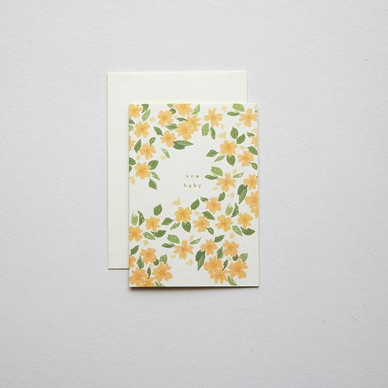 'New Baby', Primroses card