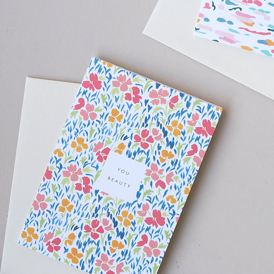 You Beauty, floral card