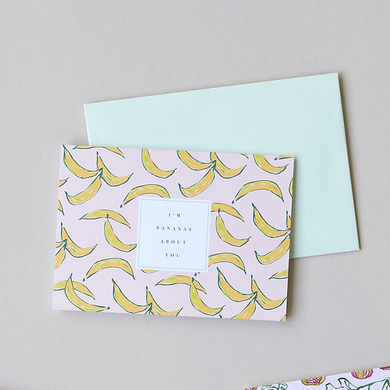 I'm Bananas About You, card