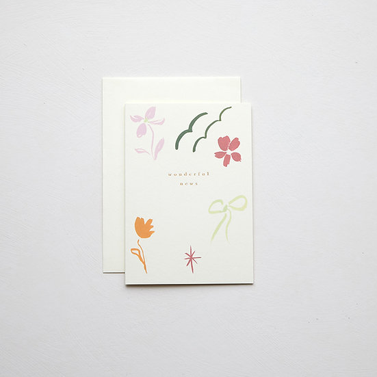 'Wonderful news', abstract card