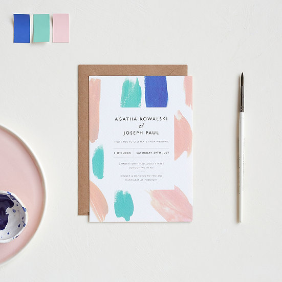 Paint Palette Invitations