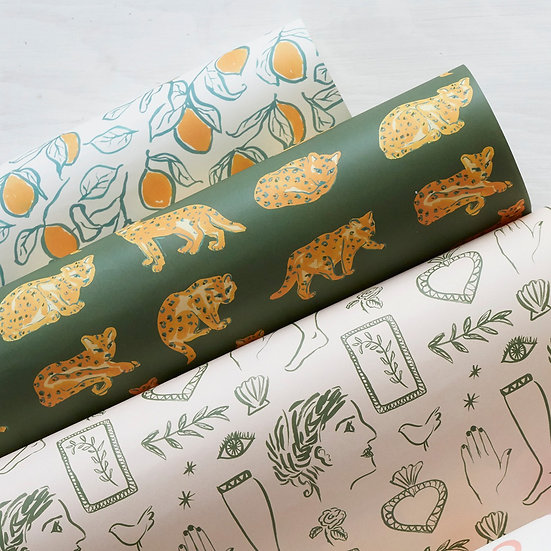 'The Med' roll of 3 wrapping paper sheets