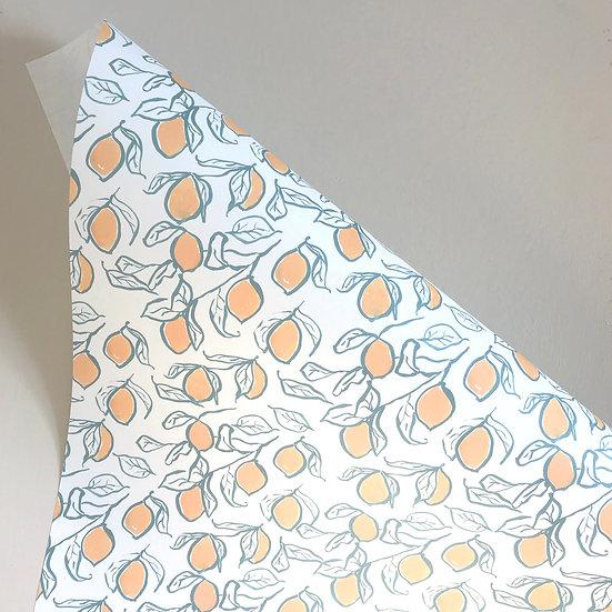 Lemons, gift wrap