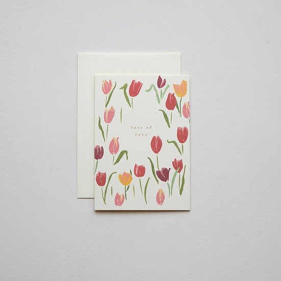 'Lots of love', Tulips card
