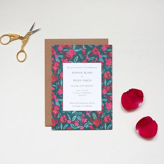 Rhododendron Invitations
