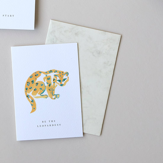 Be the Leopardess, card