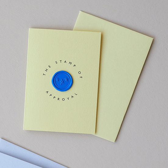 'Stamp of approval', wax seal card
