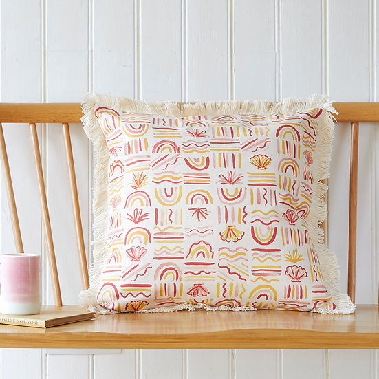 Shell and Rainbow cushion