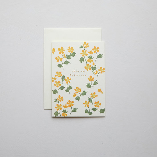 'Chin up buttercup', Buttercup card