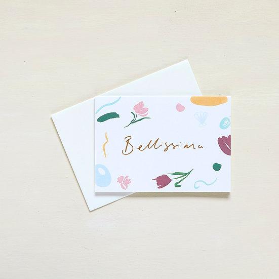 Bellissima, gold foil card