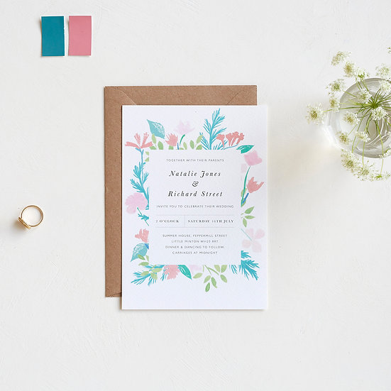 Summer Bouquet Invitations