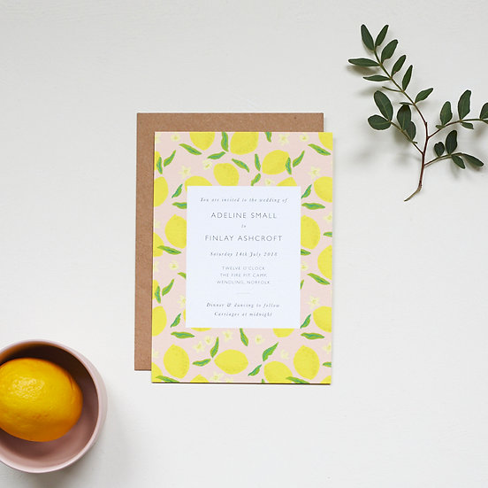 Italian Lemon Invitations