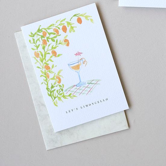 Let's Limoncello, card