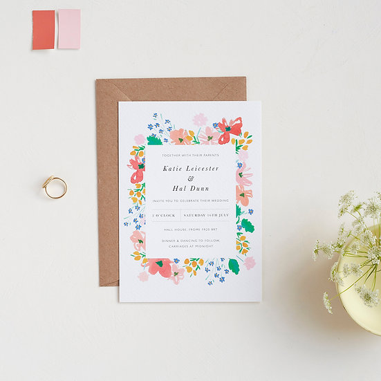 Seventies Bloom Invitations