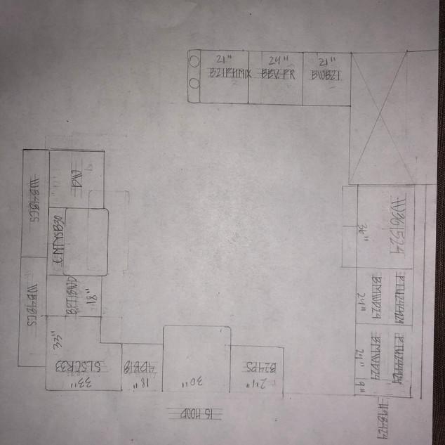 Hand drawn floor plan