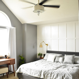 Bedroom on a budget, room view