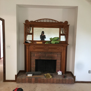Master fireplace before