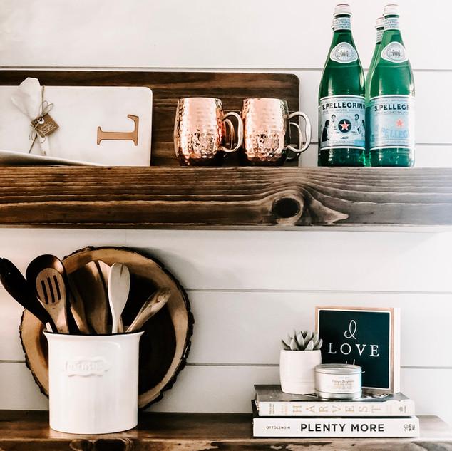 Kitchen shelf staging