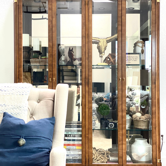 Living room glass curio cabinet