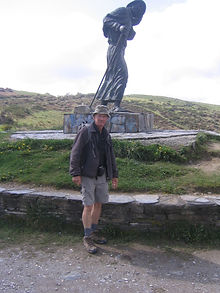 Ian Headlam (M10) on the camino de Compo