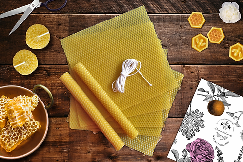 Rolled Beeswax Candles DIY Kit