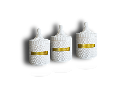 Trio Votives White Obelisk Vessels