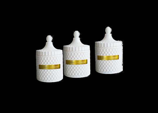 Trio Votives White Obelisk Vessels