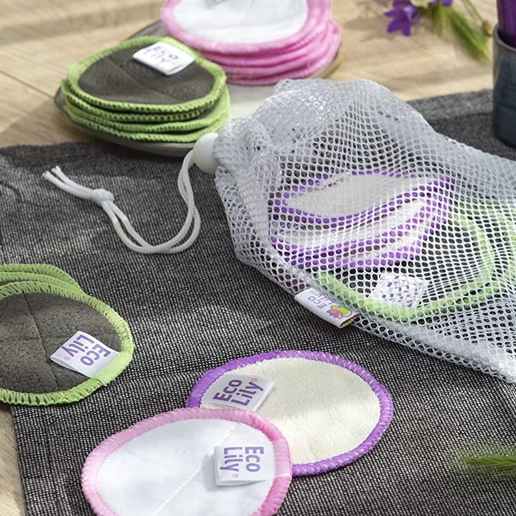 Eco Lily washable makeup pads