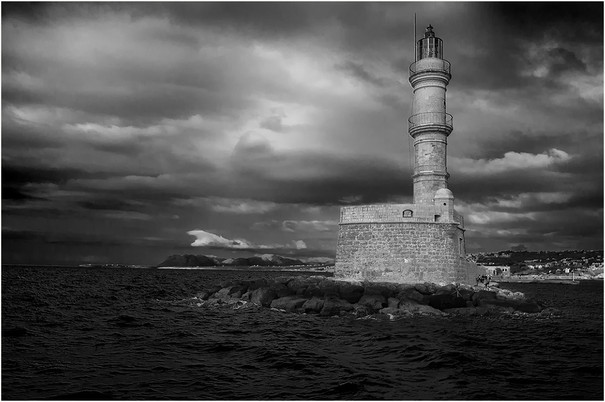 Harbour Beacon at Chania - Mike Marnell