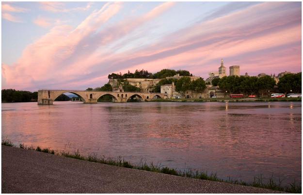 Sunset over Avignon by Barbara Dudley SCORE:13