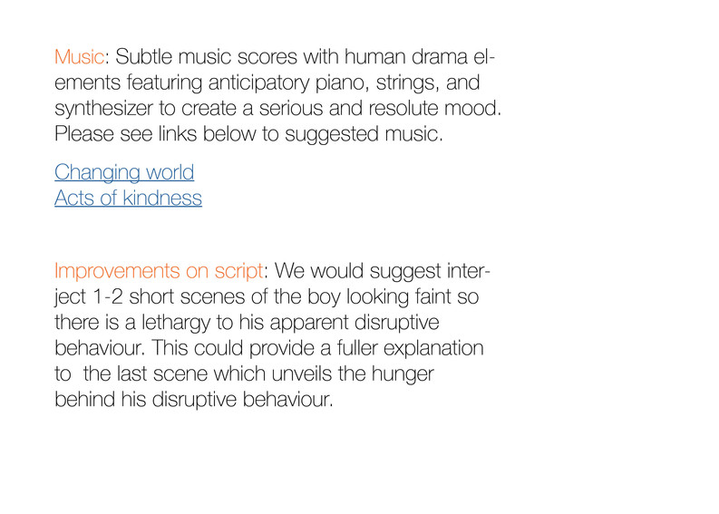 Assignment 6 - Director's treatment - No