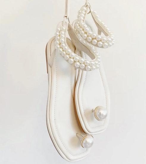Jasmine Pearl Anklet Sandals