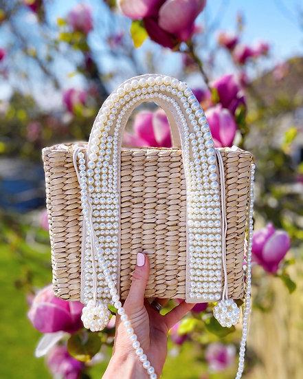 Alexa Pearl Basket Bag