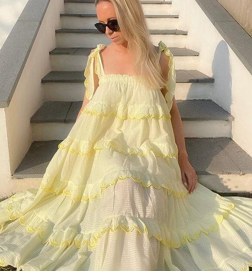 Luna Ruffle sundress (lemon)