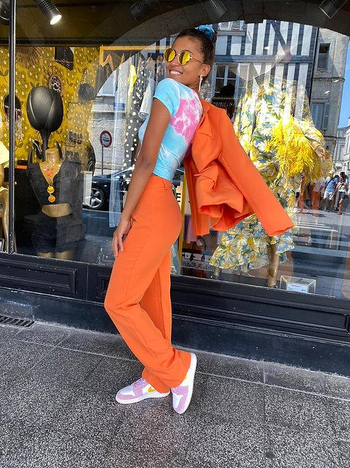 Veste tailleur orange