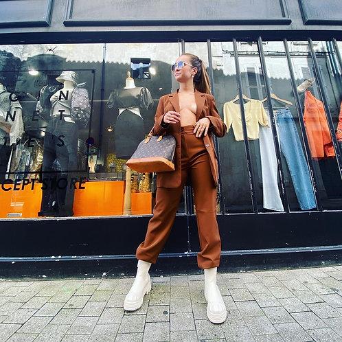 Pantalon de tailleur marron
