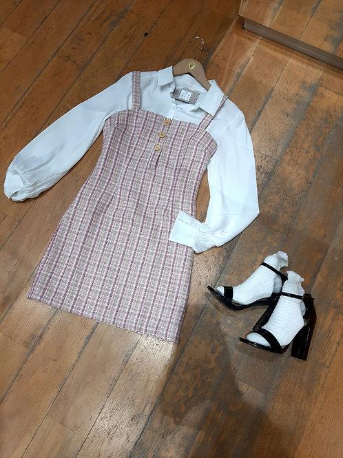Robe en tweed fine bretelle