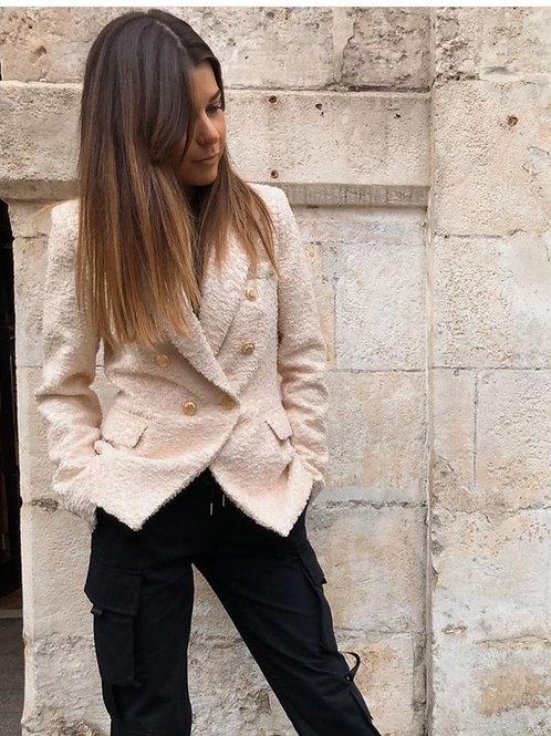Veste beige tweed