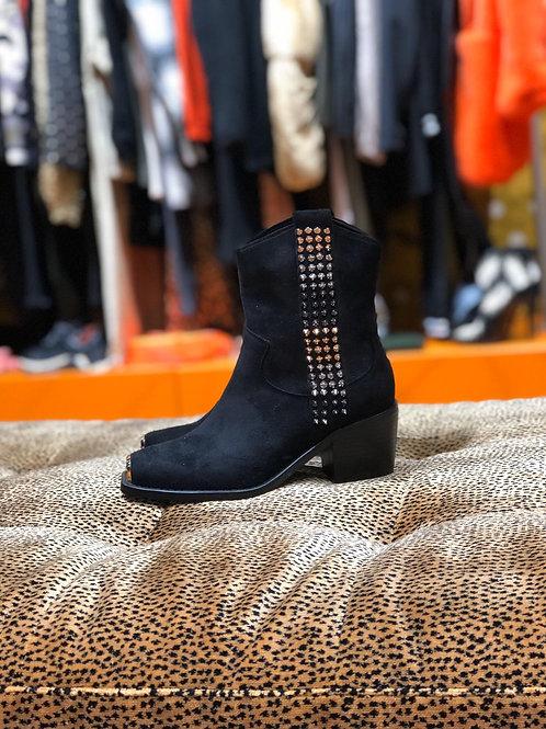 Boots rock cloutés