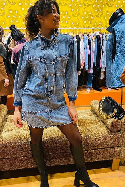 Robe en jean boutonné