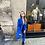 Thumbnail: Veste de blazer bleu électrique
